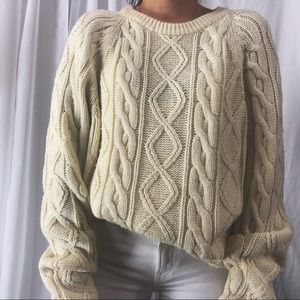 VINTAGE/ oversized cable knit